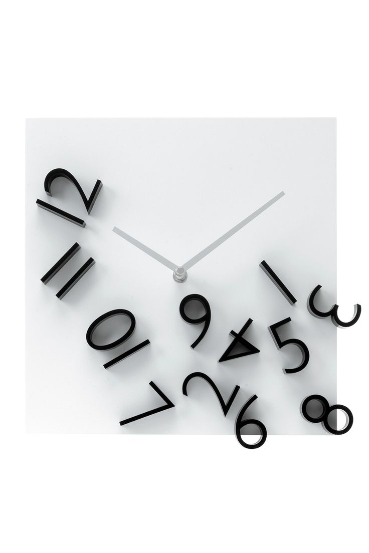 887 best clocks images on pinterest wall clocks driftwood and diy falling numbers wall clock amipublicfo Images