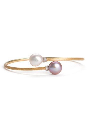Marco Bicego 'Africa' Pearl & Diamond Wrap Bangle | Nordstrom
