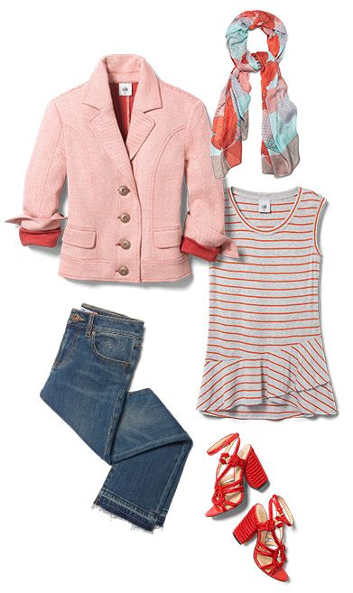 Check out five unique ways to mix and match the Amelia Jacket with other cabi items!