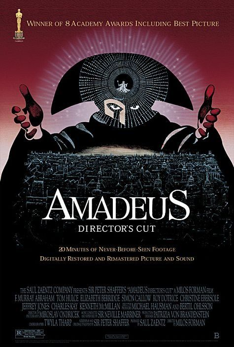 Amadeus - An classical Holywood epic; beautiful baroque design with larger-than-life performances and brilliant themes of jealousy, talent and artistic legacy. (9/10)