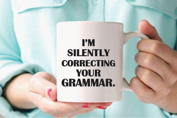 Grammar Mug, Funny Grammar Mug, Funny Grammar Gift, Grammar Gift, Grammar Police…