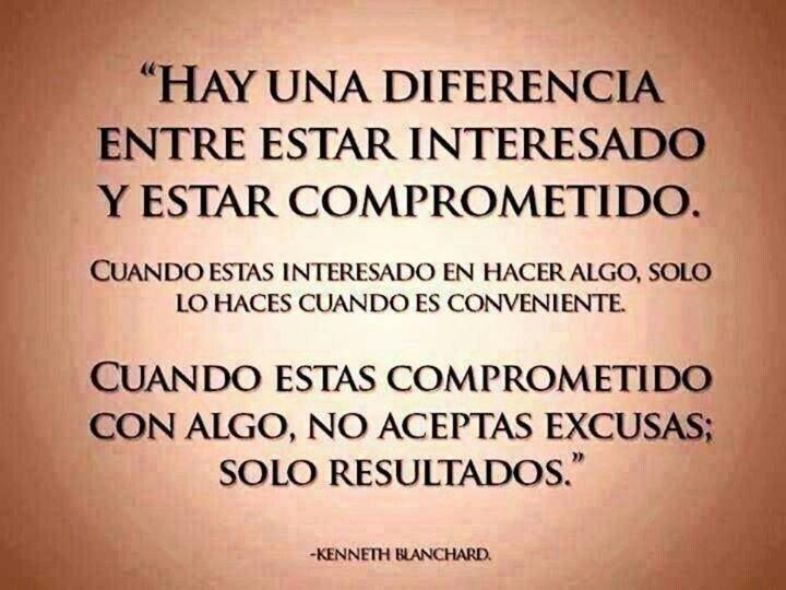 #Frases hay una diferencia entre estar comprometido y estar interesado....