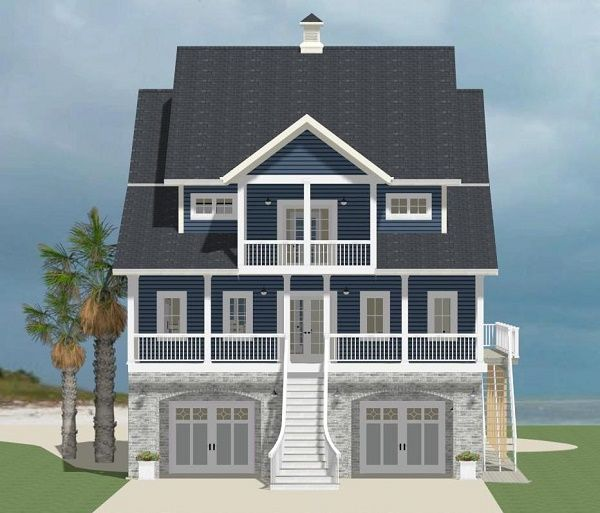 The walk out basement on this lovely #houseplan is perfect for walking straight to the beach! Check out additional photos at: http://houseplans.housingzone.com/plan/9635/