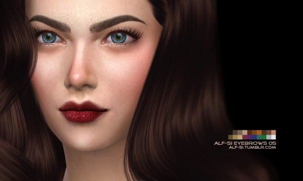 Alf-Si: Eyebrows 05 • Sims 4 Downloads Check more at…