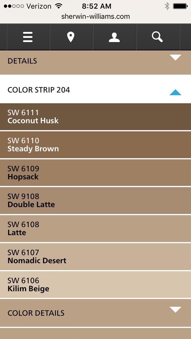 Sherwin Williams latte color strip