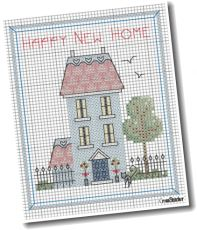 Happy New Home Designed By Maria Diaz Pallett Originally Published In Crossstitcher