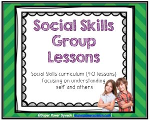 40 lessons! Social Skills Group Lessons.