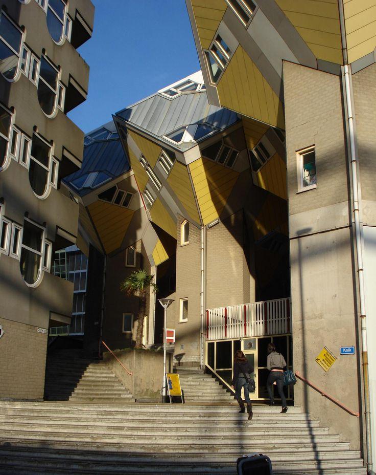 De Kolk passageway & the cubic houses by architect Piet Blom (1982-84), Rotterdam, The Netherlands