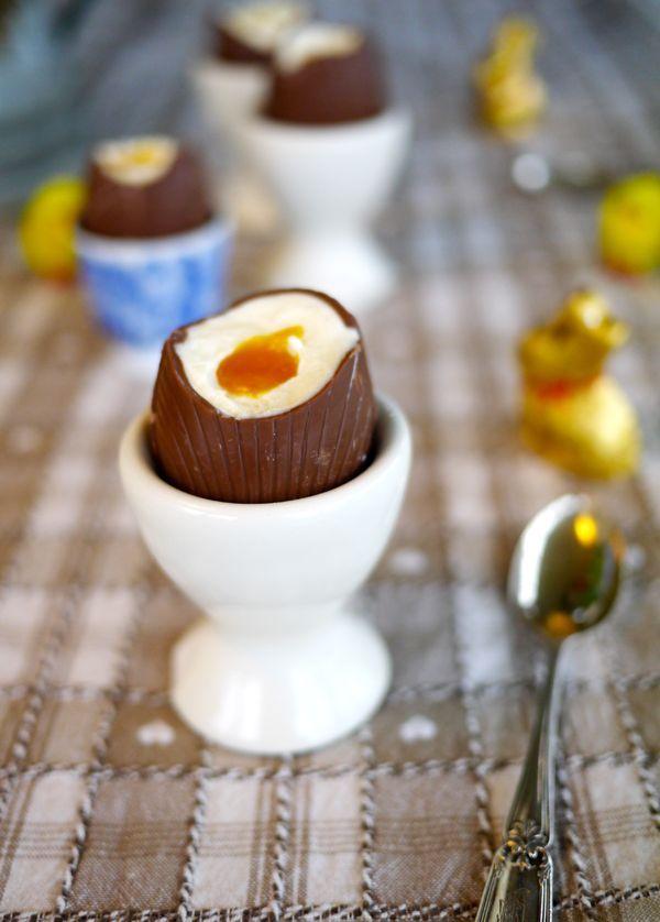 Lemon & Passionfruit Cheesecake Easter Eggs - The Londoner   Doing this for Easter!