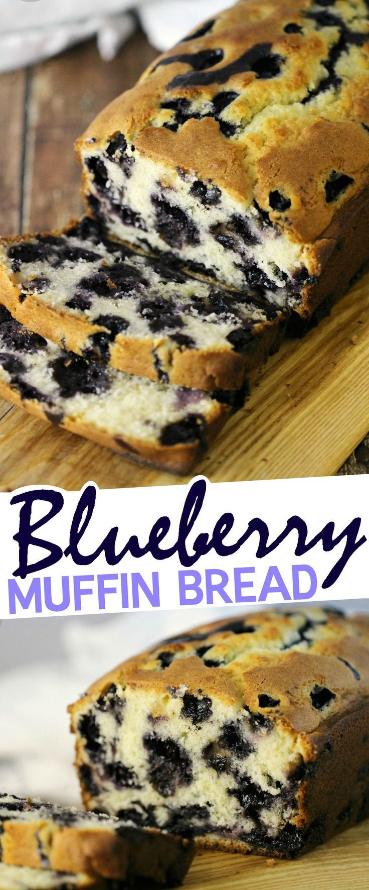 Blueberry Muffin Bread - This blueberry loaf is wonderful after dinner with some coffee but equally good for breakfast.