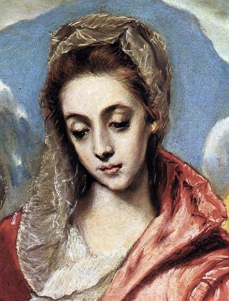 El Greco: Detalle de La Sagrada Familia.