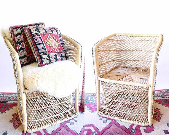 Pleasant Boho Rattan Accent Chair Wicker Chair Please See Note On Pabps2019 Chair Design Images Pabps2019Com