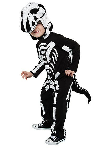 Take your little one on a time travelling adventure to the Mesoziac era with this troublesome T-Rex Skeleton fancy dress outfit. The detachable tail adds a d...