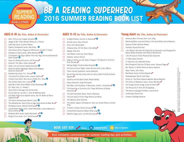 Presenting the 2016 Summer Reading Book List! {PAGE 2} So many fun titles to choose from! Click through to learn more about the Scholastic Summer Reading Challenge. #summerreading
