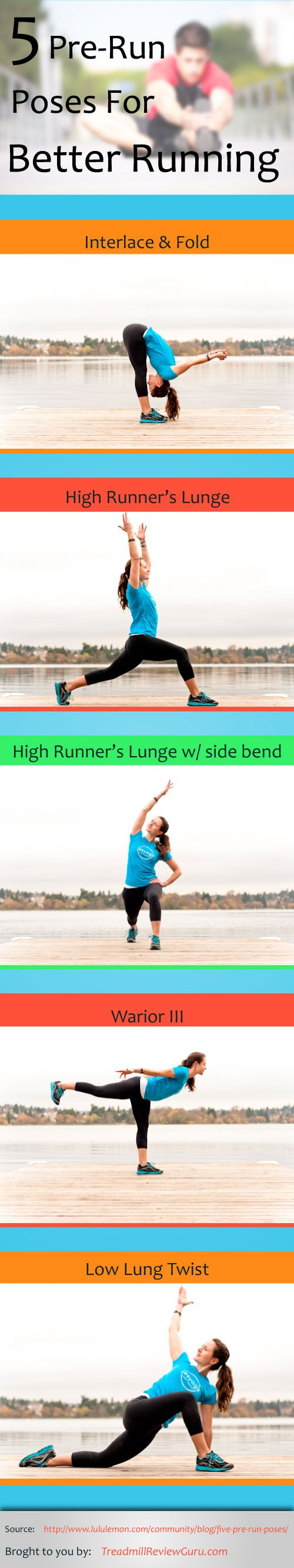 5 pre run poses for better running.
