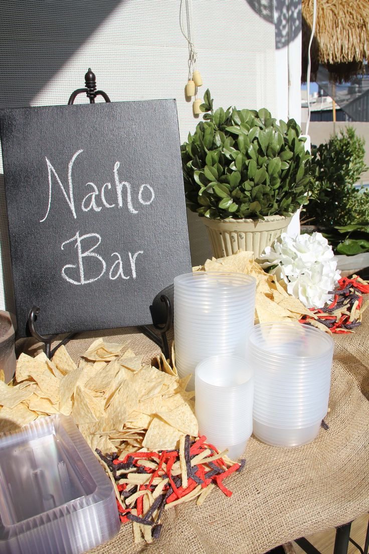 Nacho Bar with Real McCoy's Chips by Warnock Food Products! #Nachobar #madera #warnockfoodproducts #RealMcCoys