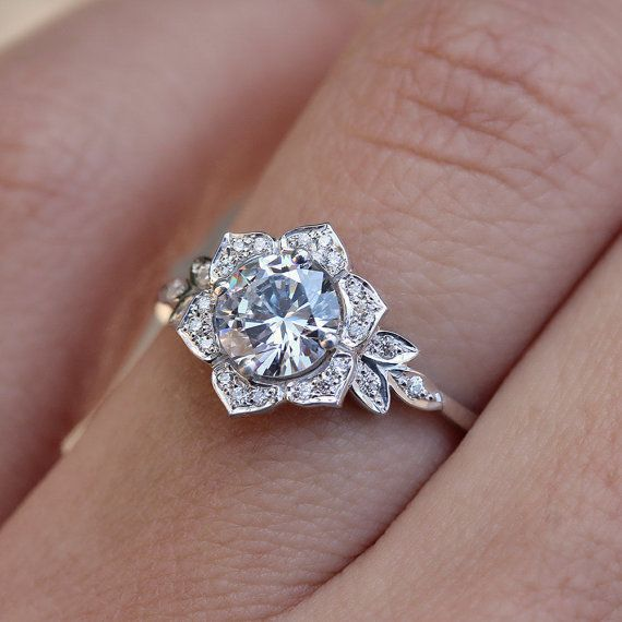 1000 ideas about Leaf Engagement Ring on Pinterest
