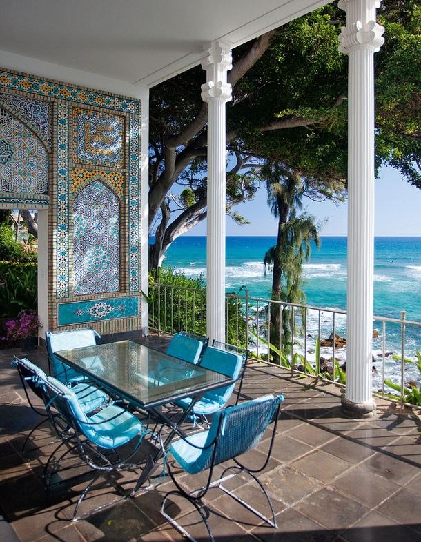 Shangri La, Doris Duke's Moroccan style home in Hawaii.