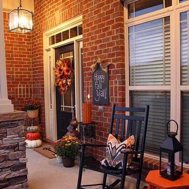 .@For Chic Sake | Sharing pictures of my fall porch on www.forhicsake.com today! Have you start...