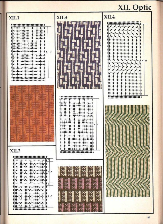 Машинное вязание - жаккард Машинное вязание - жаккард #66