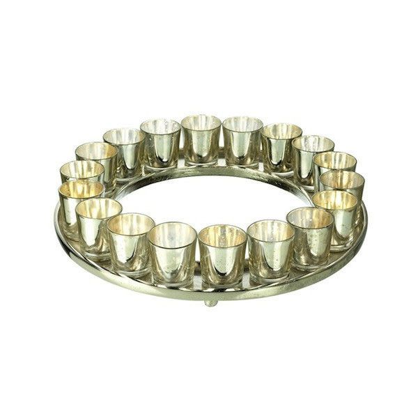 Tea Light Holder Metallic Ring