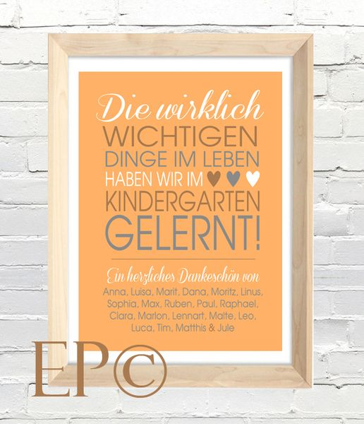 Weiteres - ★ Kindergarten ★ Print 21x30,5 cm ★ Abschied - ein Designerstück von eazy-peazy bei DaWanda