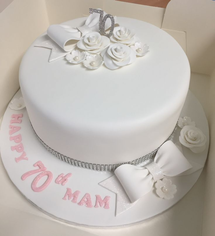 70th birthday cake by Dawn's Cupcake Couture
