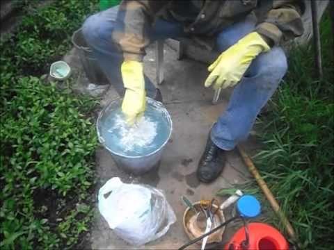 Приготовление бордоской смеси и её применение - YouTube