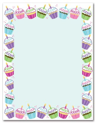 free cupcake stationary | ... personalize your card with any of these free back…