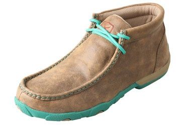 Twisted X Women's Casuals Driving Mocs - Bomber / Turquoise
