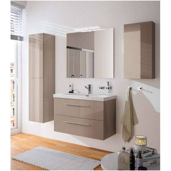 2042 Mueble Bano Suspendido Fussion Chrome 90 Cm In 2020 Vanity