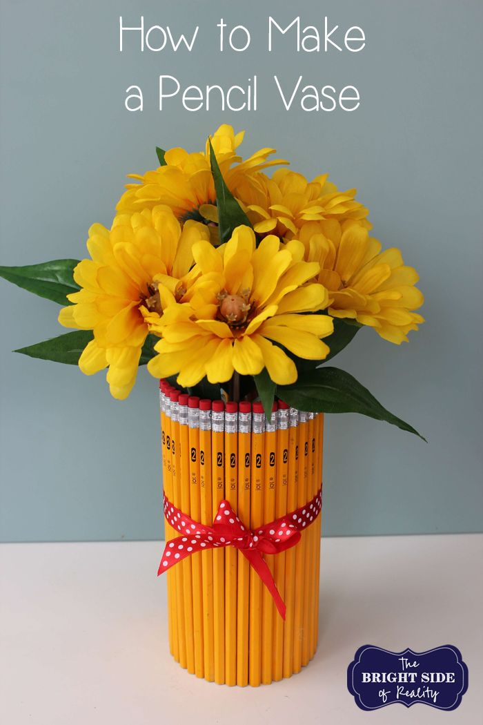 Check out our simple and easy DIY pencil vase tutorial. It's the perfect teacher appreciation gift. You will love this easy craft and so will your teachers.