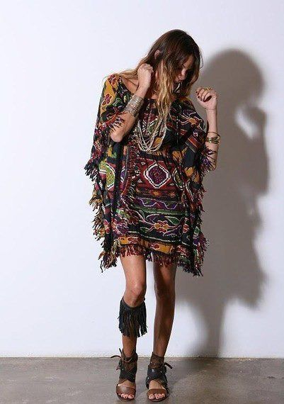 Tribal poncho/dress/oversized shirt.. This is everything combined into one... yeah