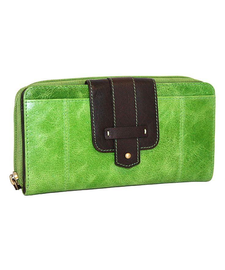 This Nino Bossi Handbags Apple Green Really Big Leather Wallet by Nino Bossi Handbags is perfect! #zulilyfinds