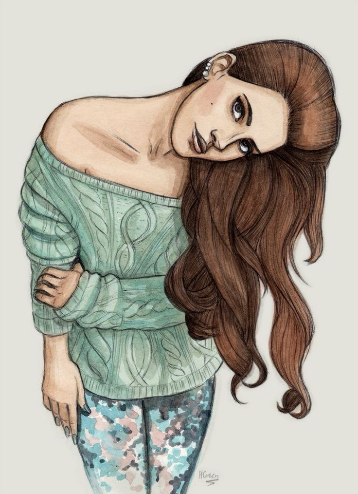 Арт девушка рисунок