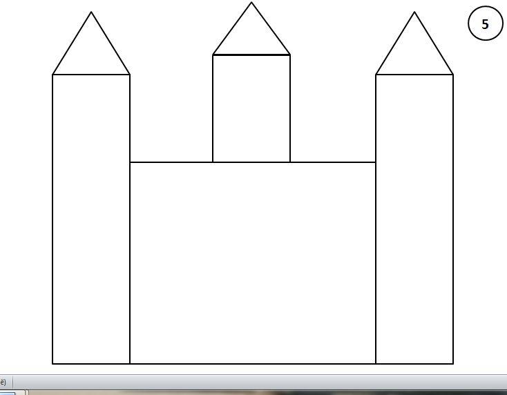 Stappenplan kasteel tekenen 5