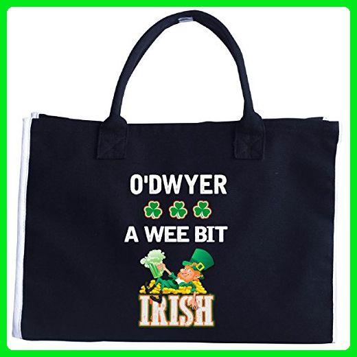 St Patricks Day Gift - O'dwyer A Wee Bit Irish - Tote Bag - Totes (*Amazon Partner-Link)