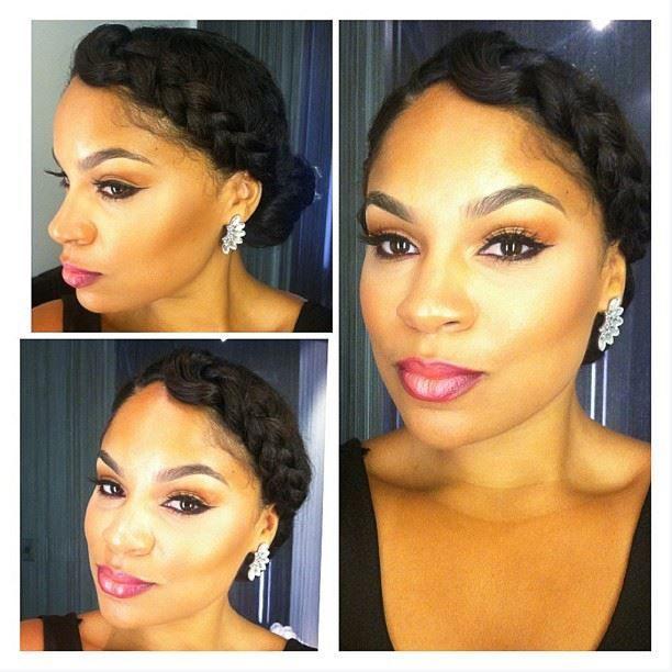Pretty weekday style To learn how to grow your hair longer click here - http://blackhair.cc/1jSY2ux