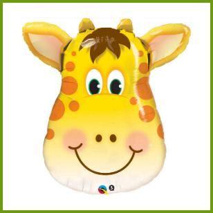 Jolly Giraffe Super Mylar Balloon, $6.19 Cdn each http://www.allthatstuff.net/SafariAdventure/safari-adventure-party-supplies.html