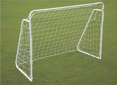 "Soccer Goal Post Steel - Club:  Soccer goal post made of 1.5"" Steel tube, powder coated for durability. Easy to assemble and carry. It comes in two variants. One with Spikes at bottom, Two with bottom frame base."