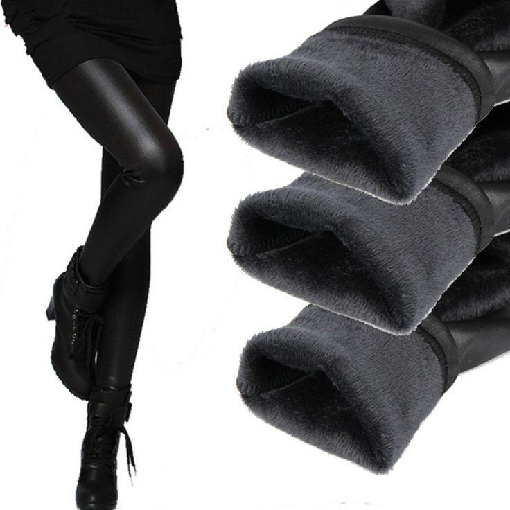 Vrouwen Broek Winter Warm Potlood broek Panty Vrouwelijke Elastische Onderkant Lederen Broek Plus 2-layer Damesmode broek & capri