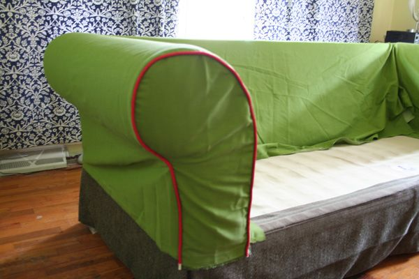 Make your own slip cover!    http://whatthecraft.com/tutorial-how-to-sew-a-slipcover-part-3/