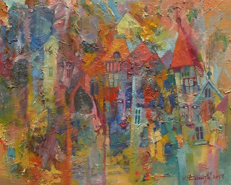 City Lozowskiburg 50x40cm, oil on canvas, for sale www.artmajeur.com/lozowski