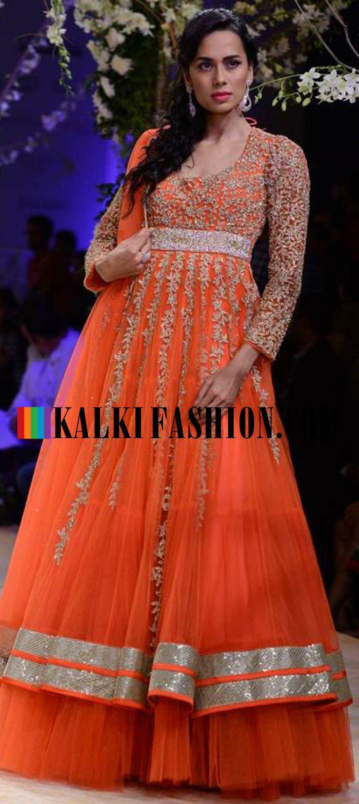 http://www.kalkifashion.com/designers/jyotsna-tiwari.html Urnashi Rautela and other models walk the ramp for Jyotsna Tiwari at Indian Bridal Week NOV 2013 at Mumbai 57
