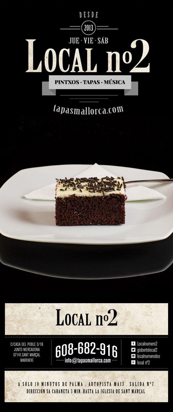 postre / Nachtisch / dessert / Nachspeise / chocolate blanco y negro / Schokoladen - Kuchen schwarz - Weiss mit Schoko - Streusel / de local n°2 / local2 / localnumero2 / localnumerodos / Marratxí / Mallorca / info@tapasmallorca.com … 608-682916