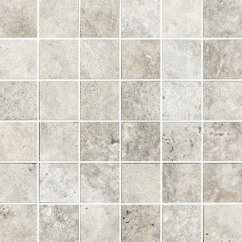 Silver Travertine 2x2 Mosaic