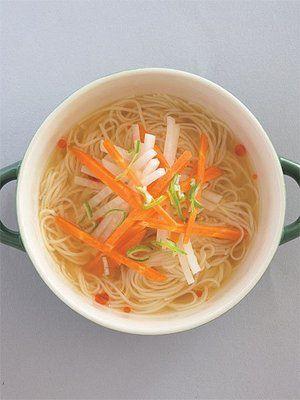 【ELLE a table】味噌ラー油のそうめんスープレシピ|エル・オンライン