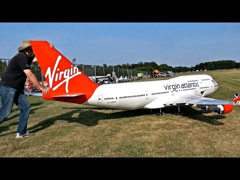 NEW BIGGEST RC AIRPLANE IN THE WORLD BOEING 747-400 VIRGIN ATLANTIC AIRLINER - YouTube