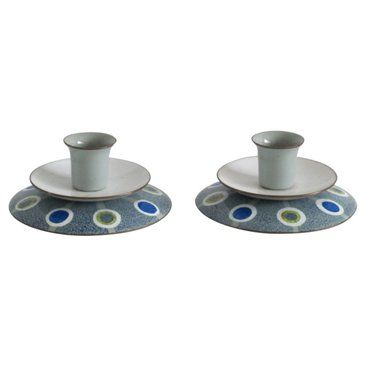 Check out this item at One Kings Lane! Louis Mugler Enamel Candleholders, Pair