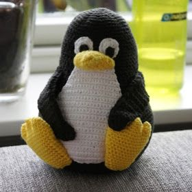 Kvalitid...: Opskrift på hæklet Linux pingvin - Tux